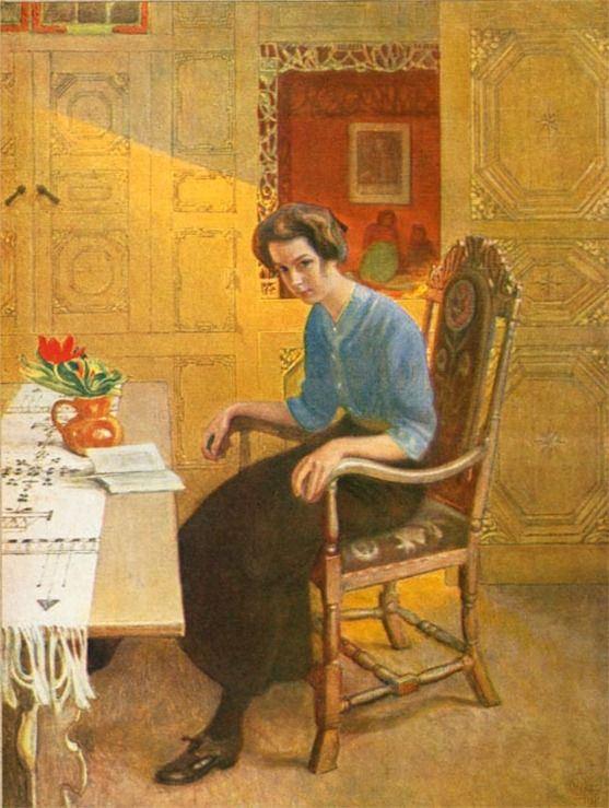 A Sun Gleam. Carl Larsson (Swedish, 1853-1919)